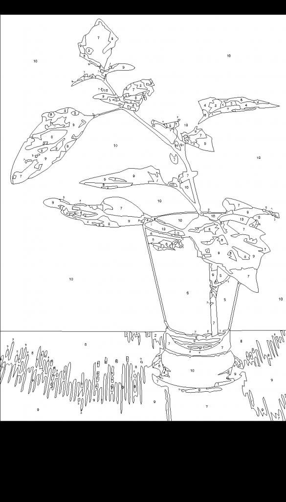 Картина по номерам Сложность 2