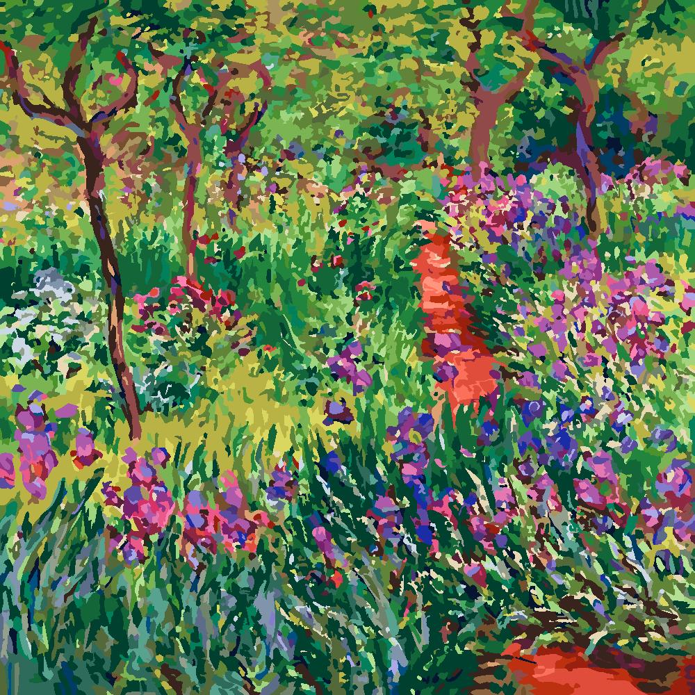 Картина по номерам «Клод Моне. Сад ирисов в Живерни»
