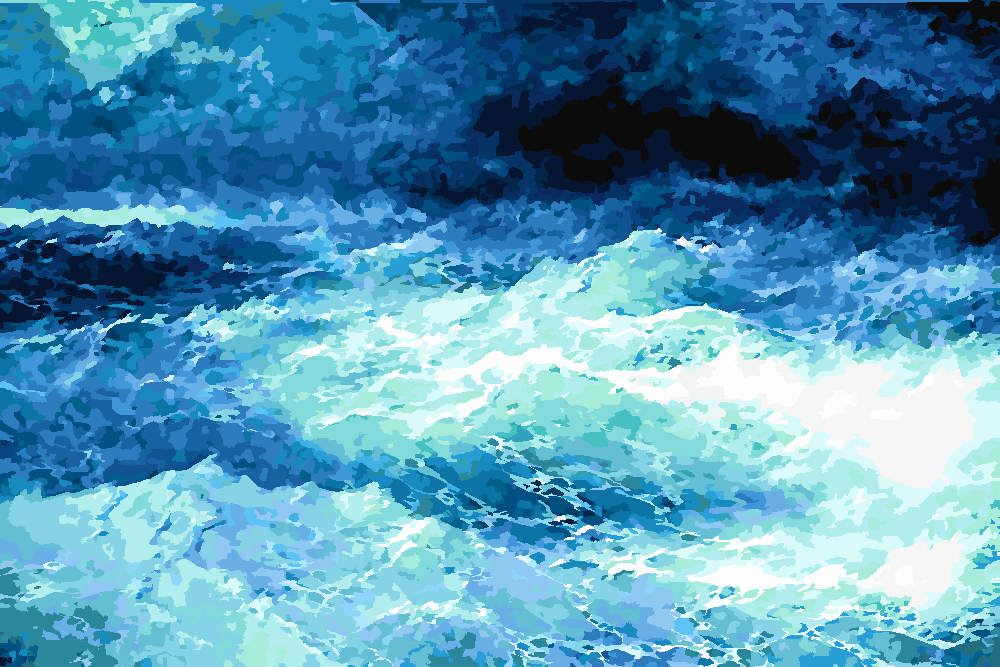Картина по номерам «И.К. Айвазовский. Среди волн»