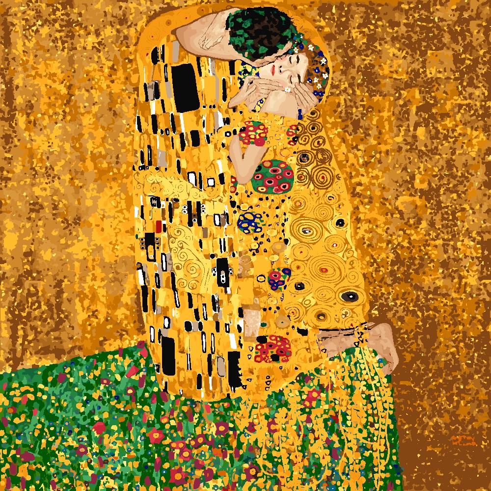 Картина по номерам «Густав Климт. Поцелуй»