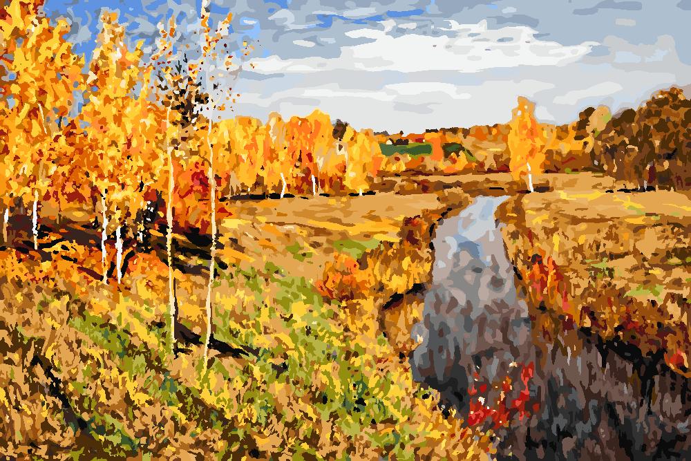 Картина по номерам «И.И. Левитан. Золотая осень»