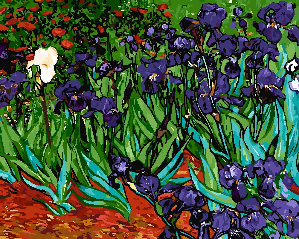 Картина по номерам «Винсент Ван Гог. Ирисы»