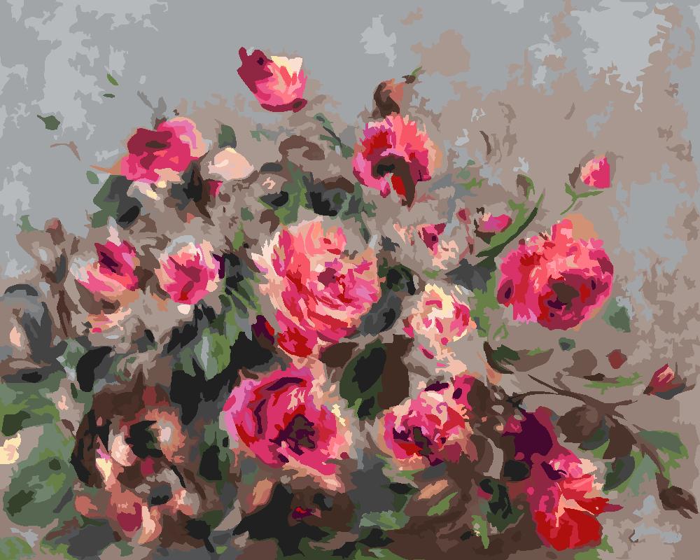 Картина по номерам «Огюст Ренуар. Розы из Варгемона»