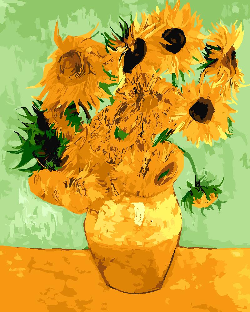 Картина по номерам «Винсент Ван Гог. Ваза с двенадцатью подсолнухами»