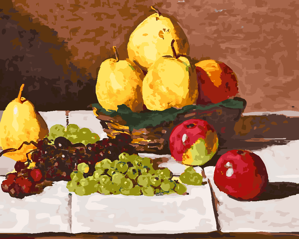 Картина по номерам «Клод Моне. Натюрморт с грушами и виноградом»