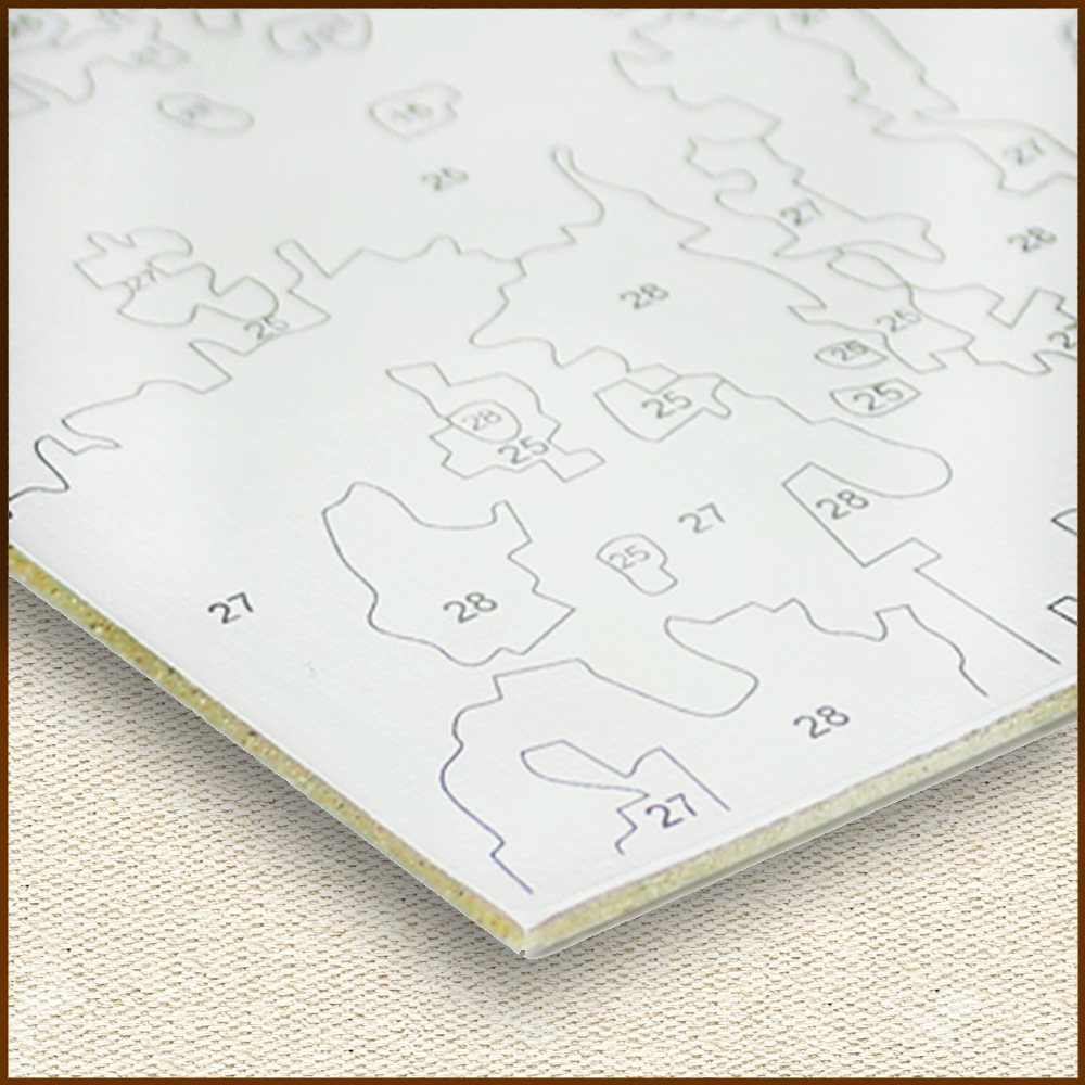 Художественный картон с нанесенным контурным изображением